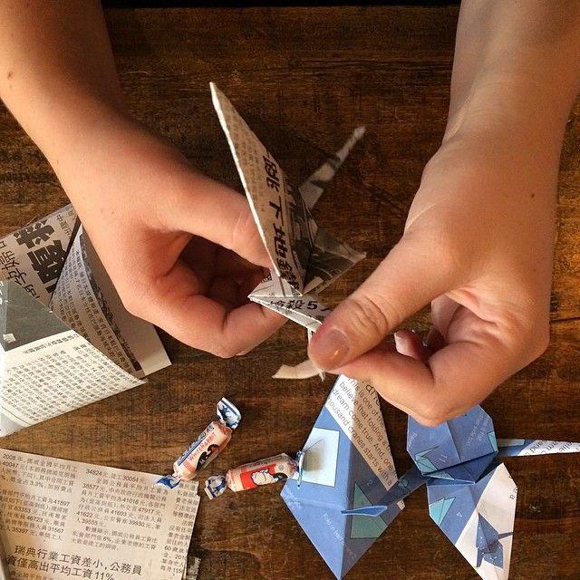 #Origami ducks for our #muchogusto #spiersecret dinner tonight #whphandinhand