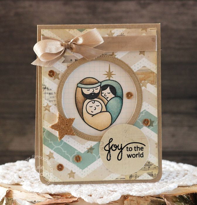 Religious Christmas Craft Ideas Part - 49: A Blessed Christmas - Paper Smooches - Beautiful Nontraditional Color Scheme