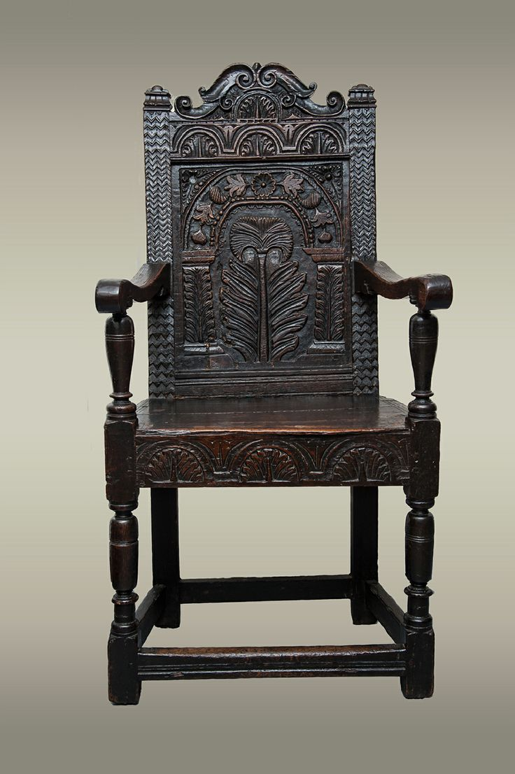 Rare set of twelve victorian solid oak leather antique chairs empire - Fine And Rare Gloucestershire Chair Circa 1640 Marhamchurch Antiques