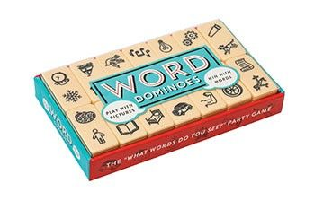 From the minds behind the bestselling Haikubes, this creative new twist on an old favorite invites players to create words and phrases by linking images. Match what other players are thinking to win! With 42 sturdy dominoes, 84 images, and unlimited connections, every game is packed with unexpected associations and hilarious combinations.