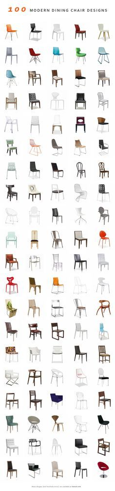 100 Modern Dining Chairs (and hundreds more) @ Inmod. We found the perfect table, but not chairs