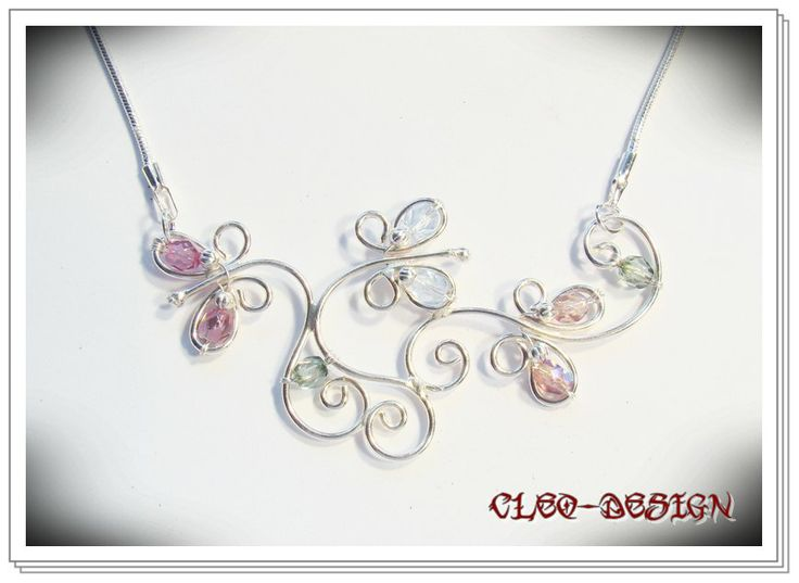 79 best Wire Wrapped Necklace images on Pinterest | Wire crafts ...