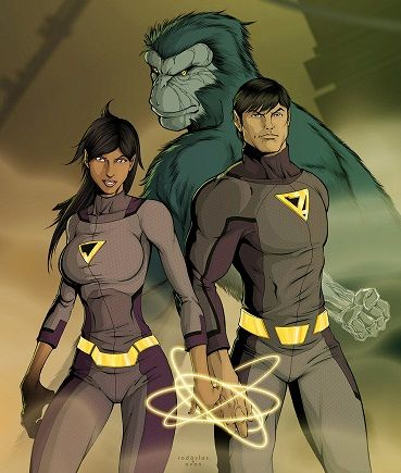 The Wonder Twins - artist redaylas