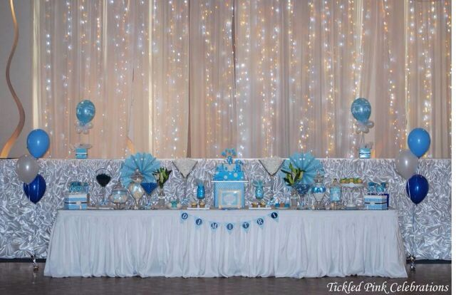 Boys Christening Baptism lolly buffet table by Tickled Pink Celebrations www.tickledpinkcelebrations.com.au