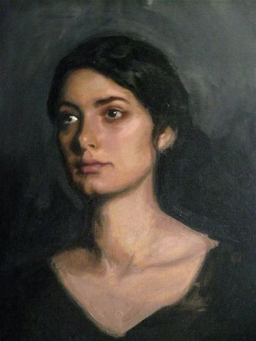 Fipsi Seilern 'Syrianna' oil on canvas, 60 x 50 x 2 cms