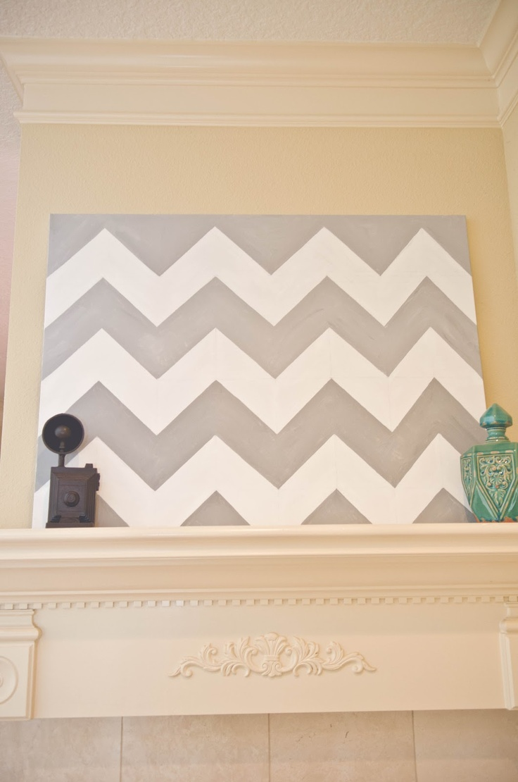 DIY Chevron painting :)