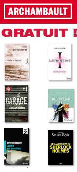 Super sélection de livres numériques gratuits.  http://rienquedugratuit.ca/echantillon-gratuit/livres-numeriques-archambault/