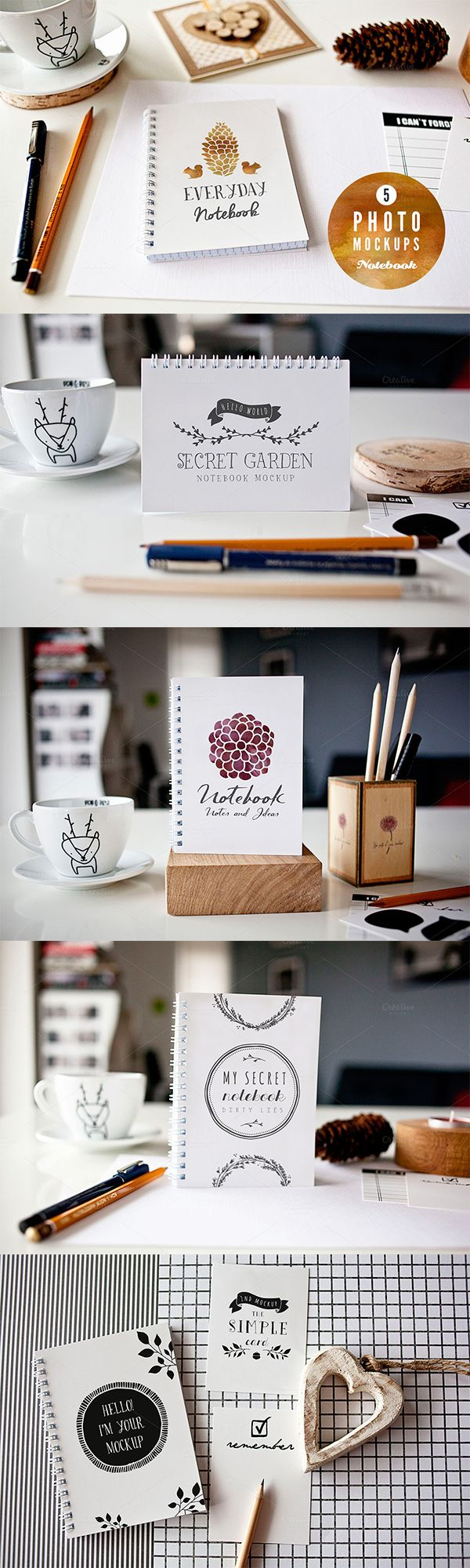 Beautifully showcase your designs w/ this set of 5 mockups - part of our latest September 2015! Get 81 goods for only $39