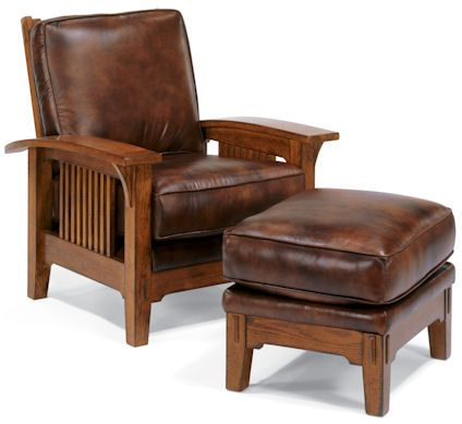 Gorgeous Morris chair from Flexsteel.  sc 1 st  Pinterest : flexsteel sectional leather - Sectionals, Sofas & Couches