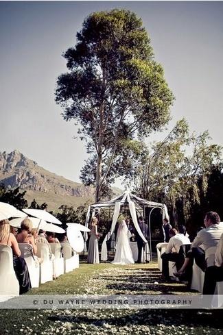 Top 20 Garden & Outdoor Wedding Venues in Cape Town   Confetti Daydreams - Fairytale wedding #ceremony venue at #Mountain #Shadows #Guest #House ♥ #Garden #Outdoor #Wedding #Venues #Cape #Town #tree