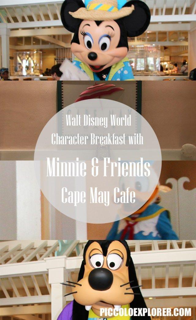 Breakfast with Minnie, Donald Duck and Goofy at Cape May Café, Beach Club Resort, Walt Disney World, Orlando, Florida