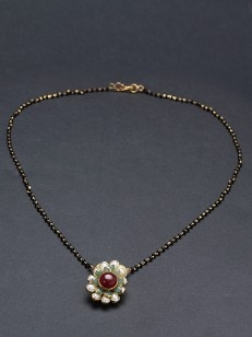 Buy Pacchi , Pearl Black Beaded Mangalsutra online
