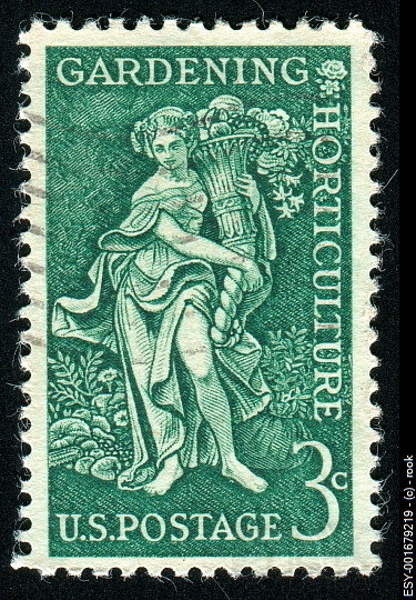 US 3 cent postage stamp commemorating Gardening & Horticulture