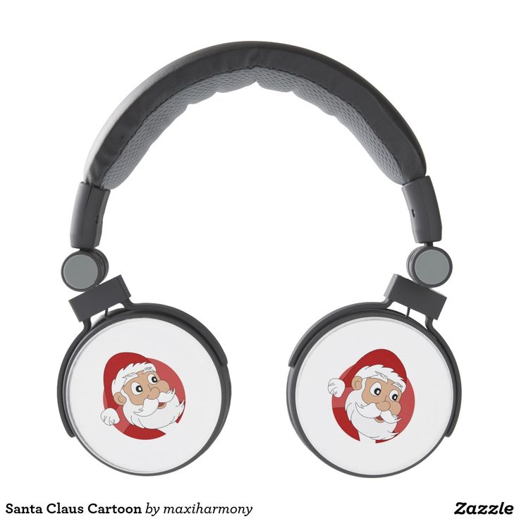 Santa Claus Cartoon Headphones