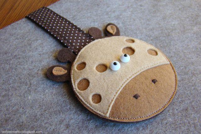 "textileinterior: Чехол для планшета ""Жираф"""