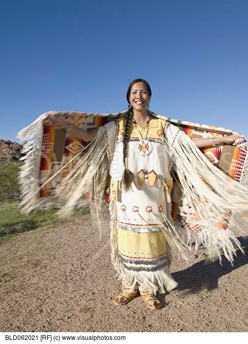 Original  Woman Apache Buckskin Young Apache Native American Accents Native