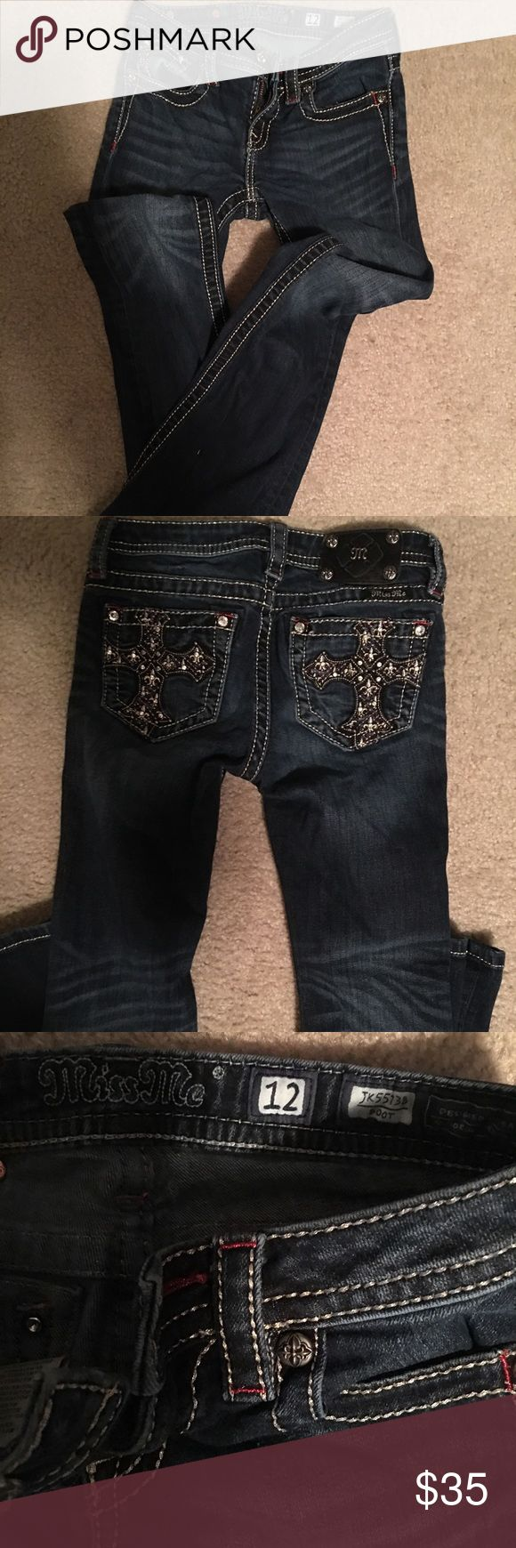 Little girl Miss Me jeans Little girl Miss Me boot cut jeans size 12.... Great condition, smoke free home. Miss Me Bottoms Jeans