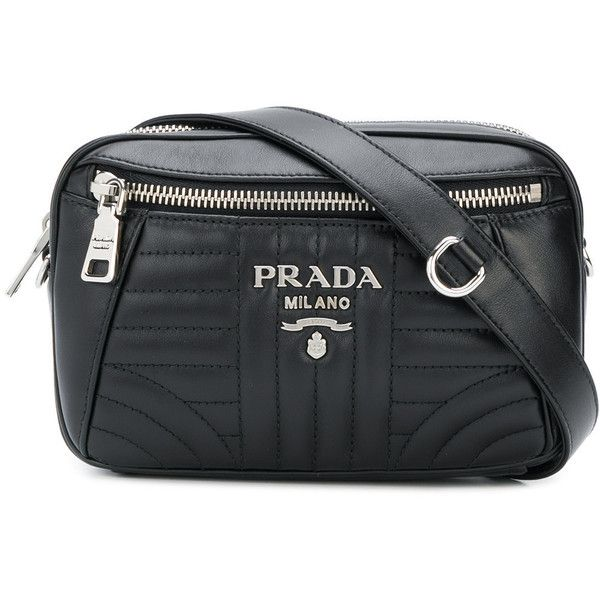 c9326f3fb Prada bevelled belt bag (102465 RSD) ❤ liked on Polyvore featuring bags,  black, prada fanny pack, zipper bag, belt fanny pack, zip bag and fanny  pack bags
