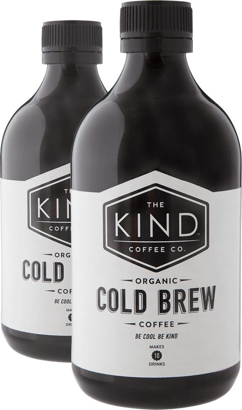 The Kind Coffee Co.....100% Organic Cold Brew Coffee Concentrate - made from fairtrade, organic beans.  Mix your cold brew with your favourite milk or mixer.  Cold Brew and almond milk, macadamia nut milk, cows milk, soda water or coconut water.  Delivered to you as a twin pack to ensure you get your coffee fix!  Keep refrigerated and it has a best before of 4 months!