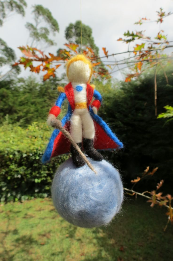 Pequeno Príncipe feltrado Needle felted Little Prince