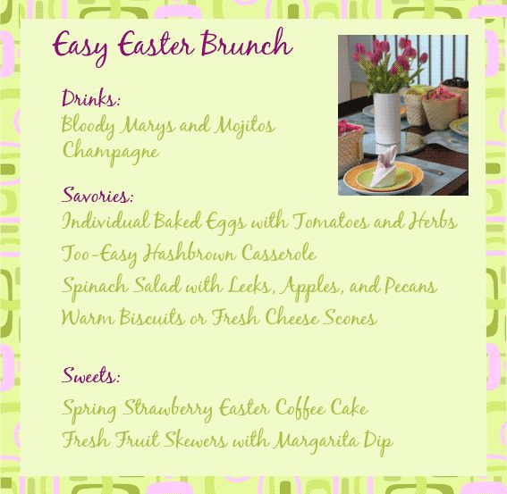 1000 images about easter brunch inspiration on pinterest for Easter brunch restaurant menus