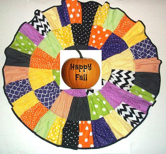 Happy Halloween Patchwork Twirl Skirt