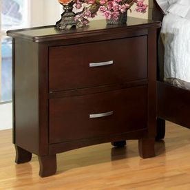 Furniture Of America Crest View Brown Cherry Nightstand Cm7599n