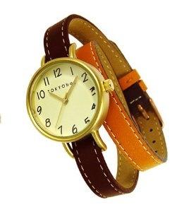 Wrap watch 2 tone