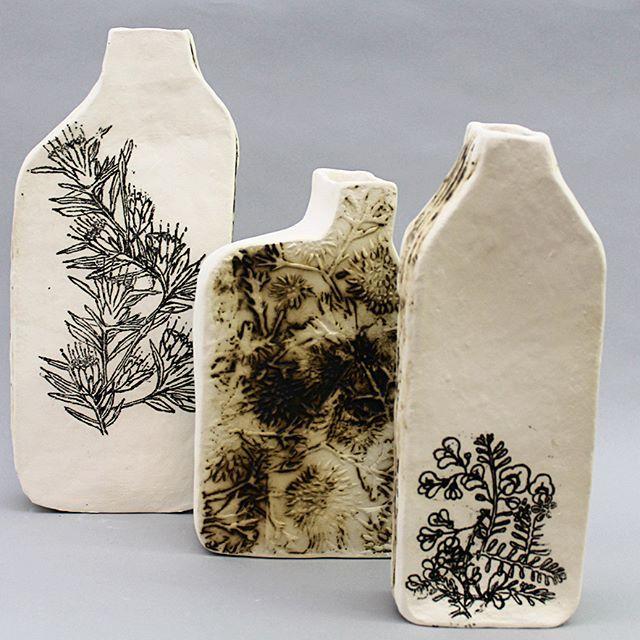 Chimney Pots #ceramicart#ceramics#contemporaryceramics#pottery#australianplants#nativeplants#