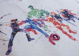 "Fangirlalarm: Inhalt der Marvel-Box von Avas Box – Watercolor Print ""Avengers"""