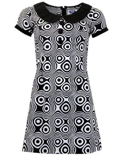 : Madcap England 'Dollierocker Op Art' psychedelic print dress