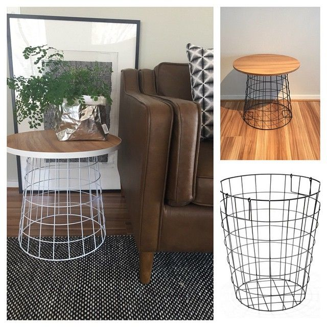 For those of you out there that missed out on the Kmart wire side table this hack is for you! Just turned my $12 black wire basket into a white side table. Also left one black as an example if you...