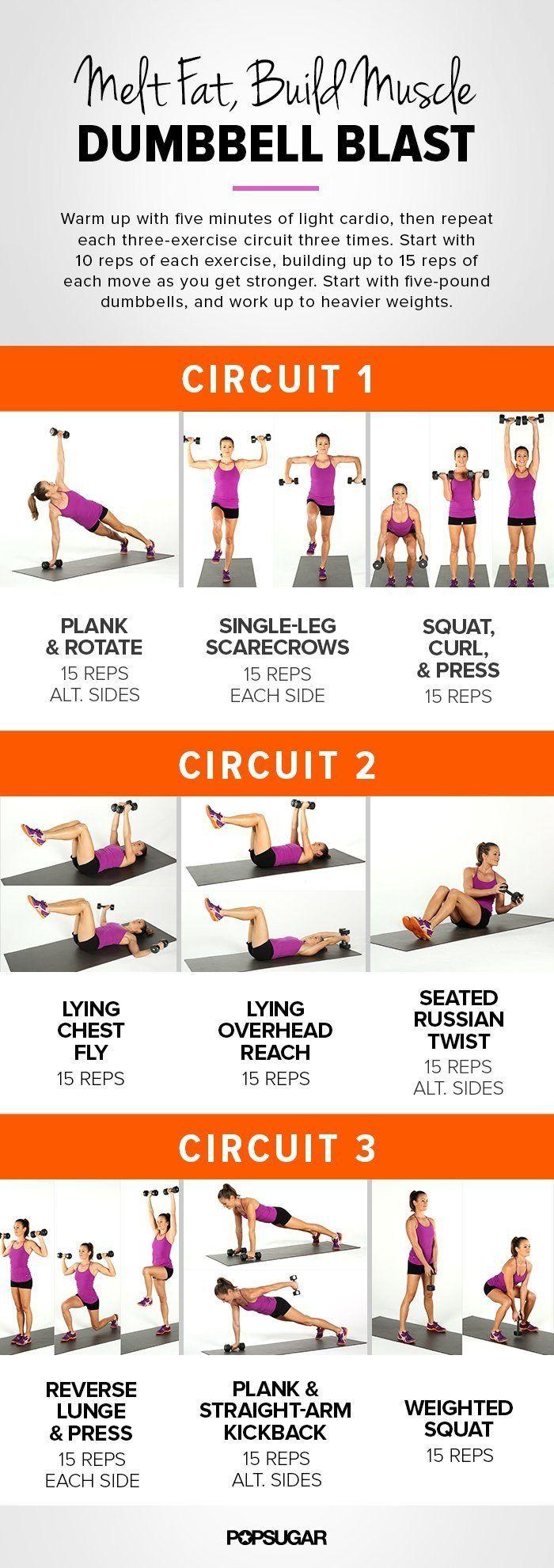 Dieses Hantel-Workout trainiert den ganzen Körper