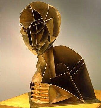 """Cabeza Nº2"" (1916), por Naum Gabo, artista constructivsta."
