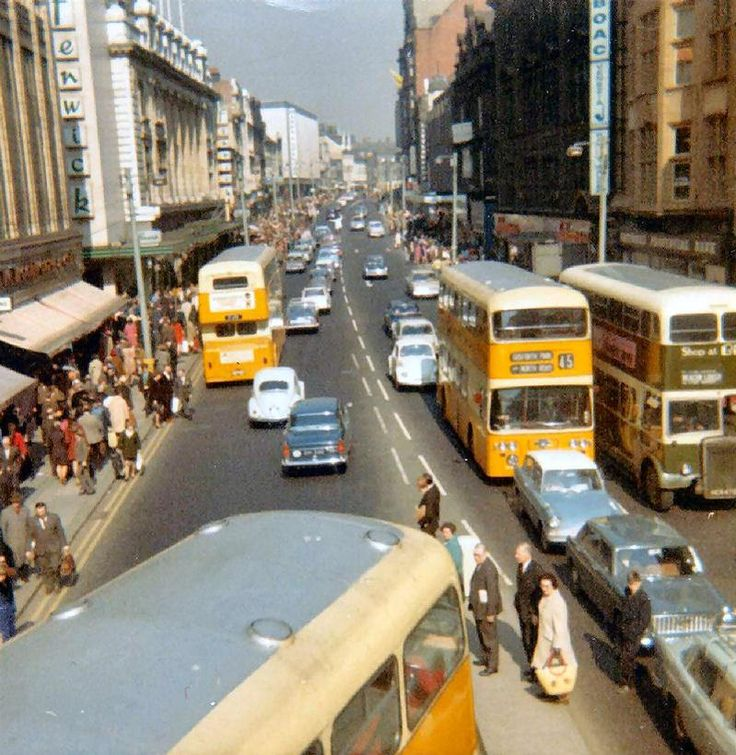 Before Northumberland Street was pedestrianized - it used to be part of the A1 between London and Edinburgh...