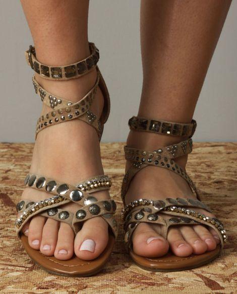 Steve Madden Boogle Taupe Suede Gladiator Sandals