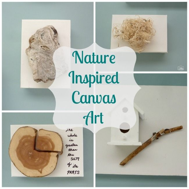 Turn Nature and Holiday Collections into Canvas Art at The Happy Housie