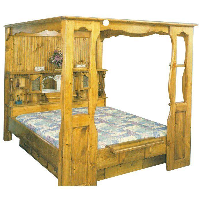 Aurora Premium Solid Pine Canopy Kit Universal 80 Hard Side Waterbed Mattress Water Bed Furniture Water Bed Mattress