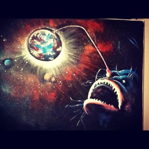 """""""Angler""""  Acrylic 2011"""