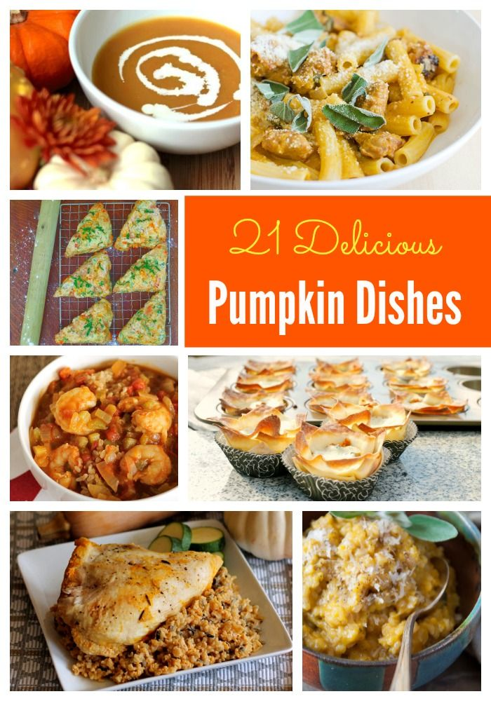 21 Delicious Pumpkin Dishes for all the other pumpkin addicts out there #pumpkin #maindishes #recipe