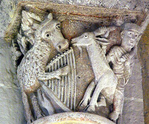 eglise de saint nectaire l'ane et la lyre | La fable de l'âne ayant trouvé une lyre ou la personnification de la ...