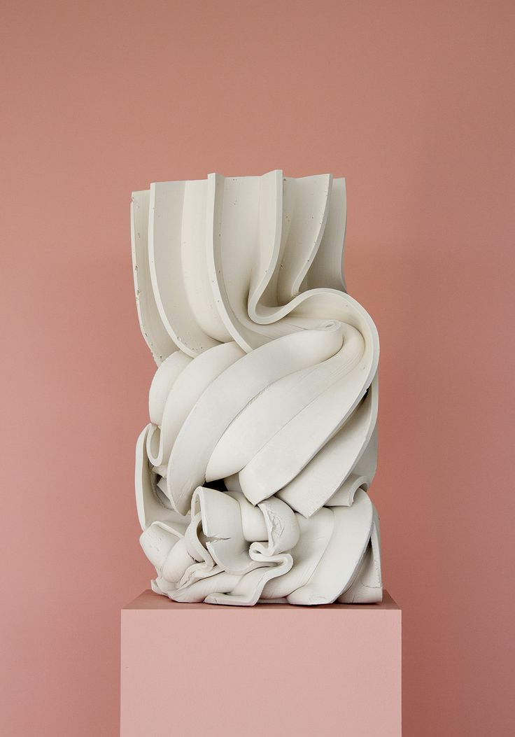 Anton Alvarez. This image attracted me simply because this artist has taken something that represents strength and control - a marble pillar - and morphed it and squished it down to make it appear flexible and easy to manipulate. This juxtaposition of strength and compliance I find really interesting, as well just the aesthetic of this piece that to me looks similar to the folded, creased but also set and solid fabric medium that I will be using.