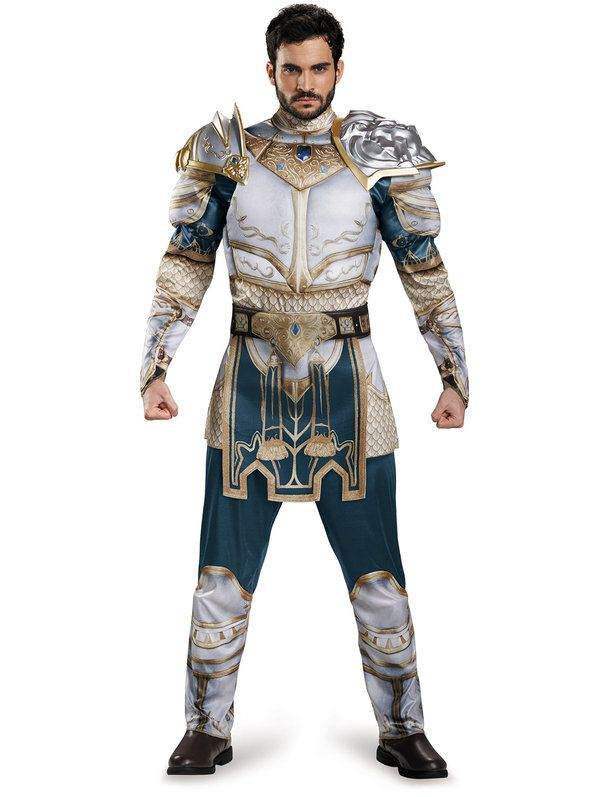 warcraft adult king llane classic muscle costume halloween costumes menhalloween - Classic Mens Halloween Costumes