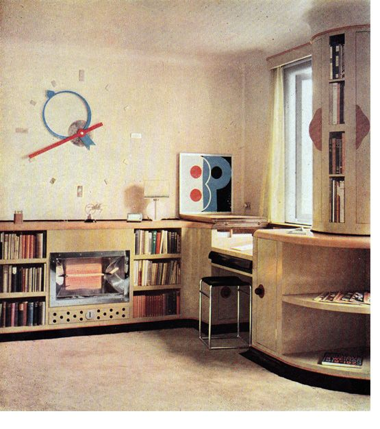 Fab room designed by Rodney Thomas for graphic designer Ashley Havinden in 1932.