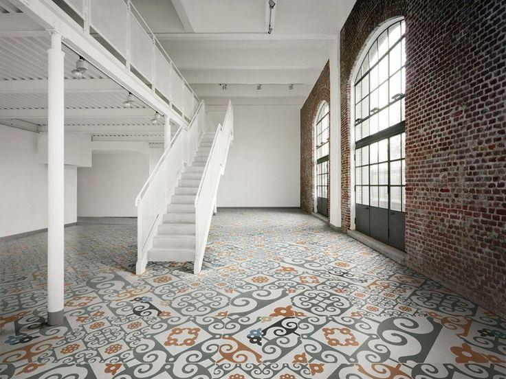 Porcelain stoneware floor tiles MAJOLICA FRAME Collection by Ceramiche Refin | design Studio FM Milano