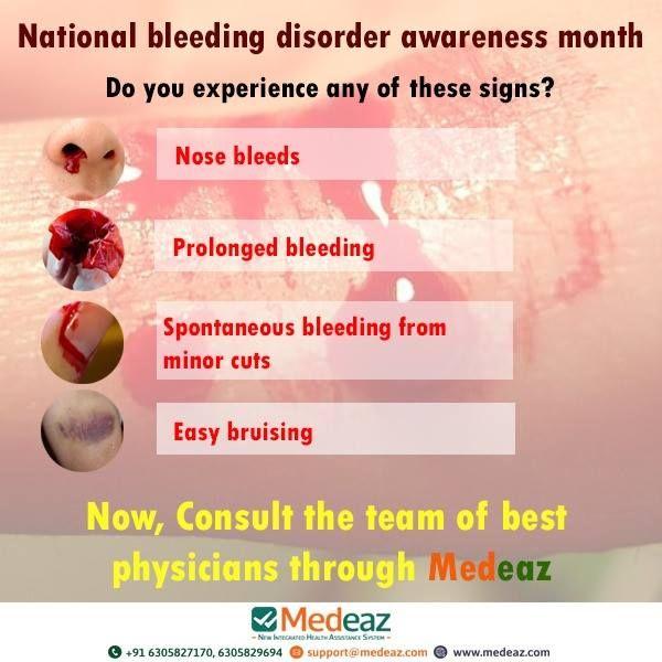 National Bleeding Disorder Awareness Month Nose Bleeding Disorders Awareness