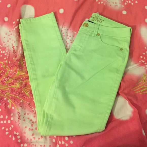 Lime Green Pants Jeggings. Never Worn. Necessary Clothing Pants Straight Leg