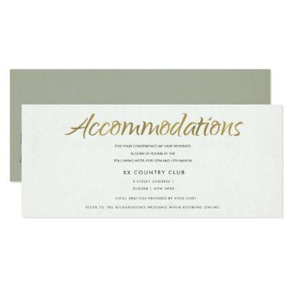 #glitter - #SIMPLE ELEGANT GREY TYPOGRAPHY Accommodations Card