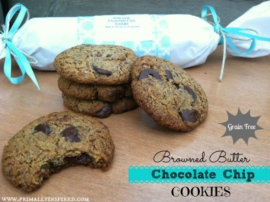 Browned Butter Chocolate Chip Cookies (Grain Free)