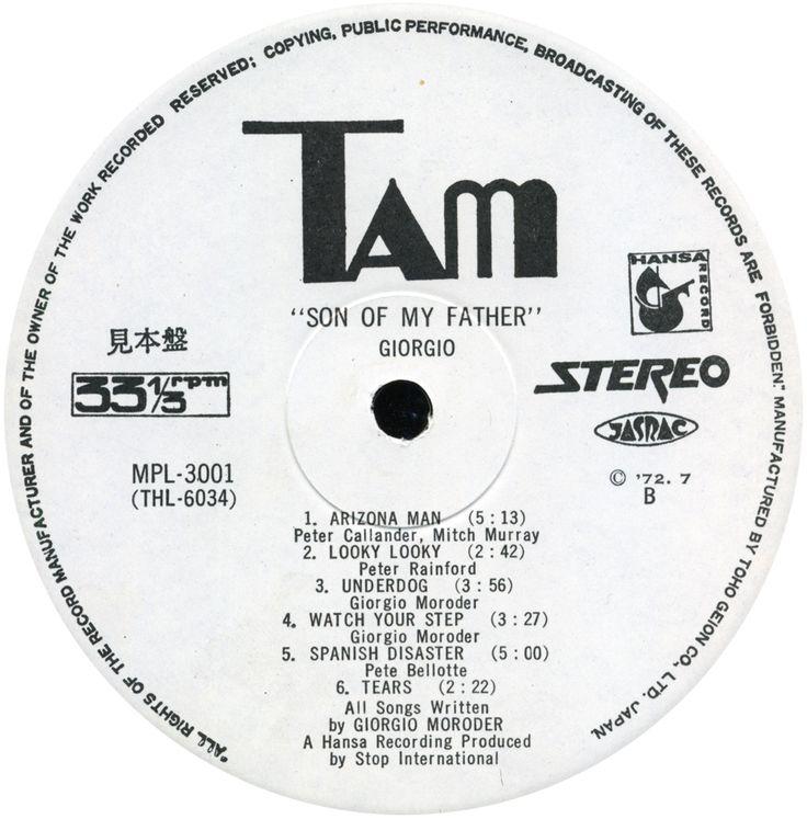 1972 - Son Of My Father (Vinyl, LP)(Tam MPL3001)(320)